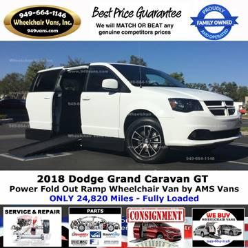 2018 Dodge Grand Caravan for sale at Wheelchair Vans Inc - New and Used in Laguna Hills CA