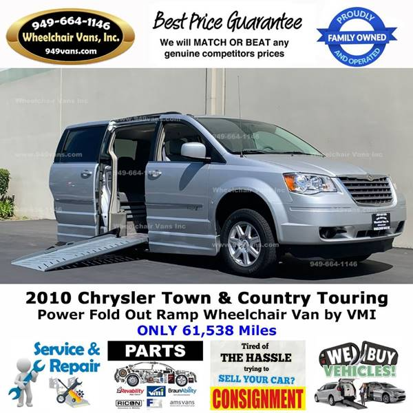 2010 Chrysler Town and Country for sale at Wheelchair Vans Inc - New and Used in Laguna Hills CA