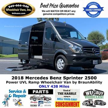 2018 Mercedes-Benz Sprinter Passenger for sale at Wheelchair Vans Inc - New and Used in Laguna Hills CA