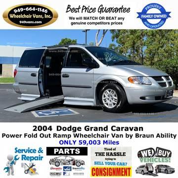2004 Dodge Grand Caravan for sale at Wheelchair Vans Inc - New and Used in Laguna Hills CA