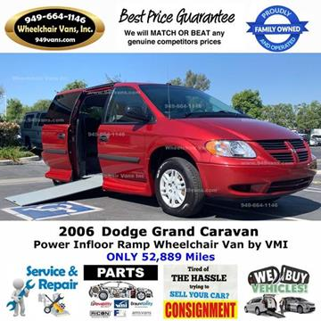 2006 Dodge Grand Caravan for sale at Wheelchair Vans Inc - New and Used in Laguna Hills CA