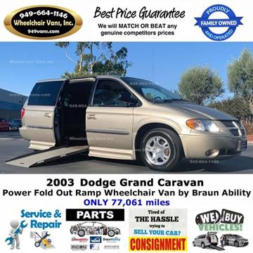 2003 Dodge Grand Caravan for sale at Wheelchair Vans Inc - New and Used in Laguna Hills CA