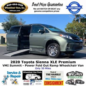 2020 Toyota Sienna XLE 7-Passenger Auto Access Seat for sale at Wheelchair Vans Inc - New and Used in Laguna Hills CA