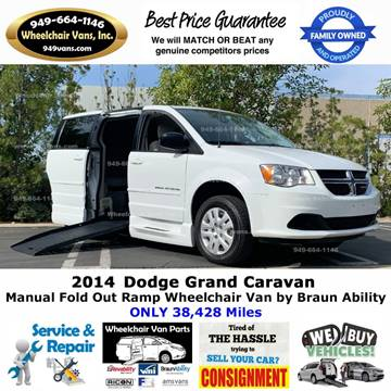 2014 Dodge Grand Caravan for sale at Wheelchair Vans Inc - New and Used in Laguna Hills CA