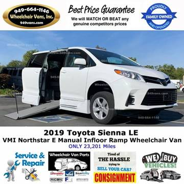 2019 Toyota Sienna LE Mobility 7-Passenger for sale at Wheelchair Vans Inc - New and Used in Laguna Hills CA