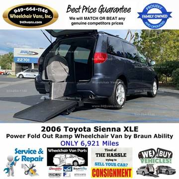 2006 Toyota Sienna for sale at Wheelchair Vans Inc - New and Used in Laguna Hills CA