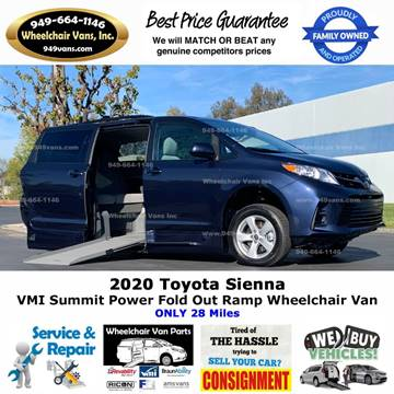 2020 Toyota Sienna LE Mobility 7-Passenger for sale at Wheelchair Vans Inc - New and Used in Laguna Hills CA