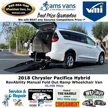 2018 Chrysler Pacifica Hybrid Touring L for sale at Wheelchair Vans Inc - New and Used in Laguna Hills CA