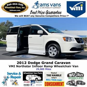 2012 Dodge Grand Caravan SXT for sale at Wheelchair Vans Inc - New and Used in Laguna Hills CA