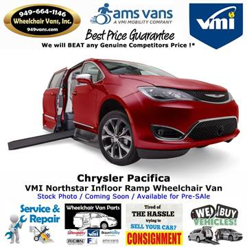 2019 Chrysler Pacifica Touring L Plus for sale at Wheelchair Vans Inc - New and Used in Laguna Hills CA