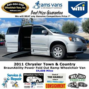 2011 Chrysler Town and Country Touring for sale at Wheelchair Vans Inc - New and Used in Laguna Hills CA