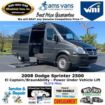 2008 Dodge Sprinter Cargo for sale at Wheelchair Vans Inc - New and Used in Laguna Hills CA
