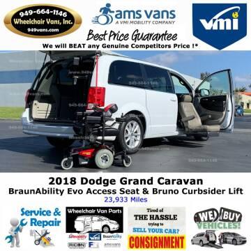 2018 Dodge Grand Caravan SXT for sale at Wheelchair Vans Inc - New and Used in Laguna Hills CA