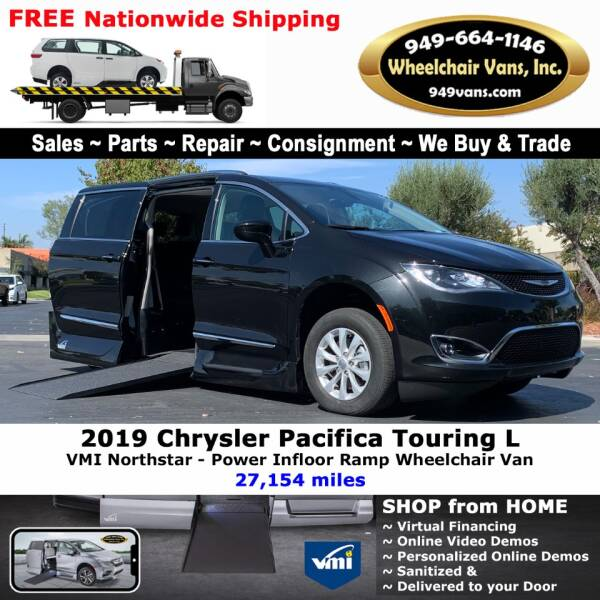2019 Chrysler Pacifica for sale at Wheelchair Vans Inc - New and Used in Laguna Hills CA
