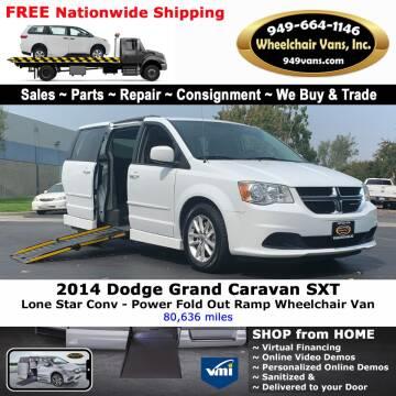 2014 Dodge Grand Caravan for sale at Wheelchair Vans Inc - New and Used in Laguna Hills CA