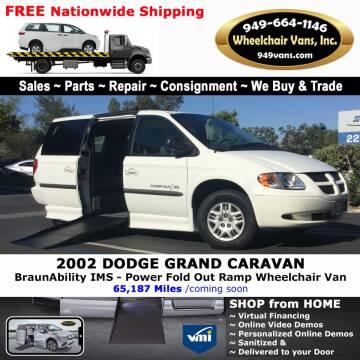 2002 Dodge Grand Caravan for sale at Wheelchair Vans Inc - New and Used in Laguna Hills CA