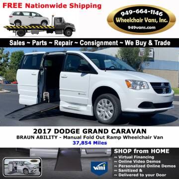 2017 Dodge Grand Caravan for sale at Wheelchair Vans Inc - New and Used in Laguna Hills CA