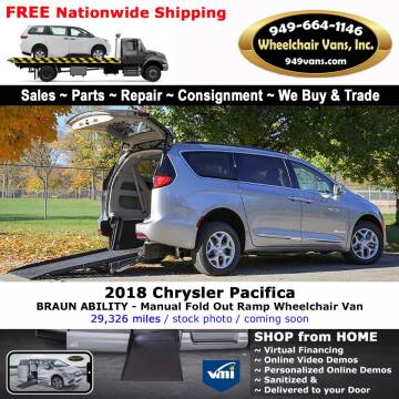 2018 Chrysler Pacifica for sale at Wheelchair Vans Inc - New and Used in Laguna Hills CA