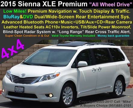2015 Toyota Sienna for sale in Jurupa Valley, CA