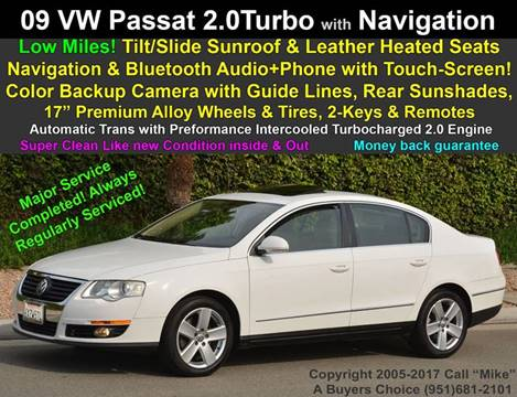 2009 Volkswagen Passat for sale in Jurupa Valley, CA