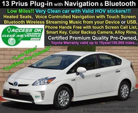 2013 Toyota Prius Plug-in Hybrid for sale in Jurupa Valley, CA
