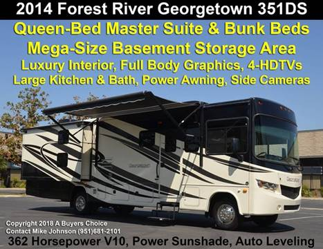 2014 Forest River Georgetown 351 Bunkhouse Floorplan for sale at A Buyers Choice in Jurupa Valley CA
