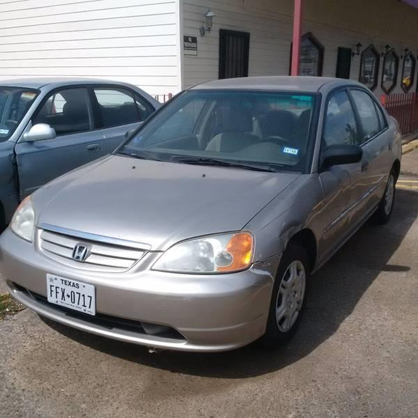 2001 Honda Civic for sale at R&T Motors in Houston TX
