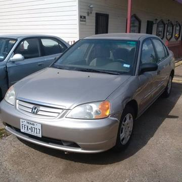 2001 Honda Civic for sale at R&T Motors in Houston TX