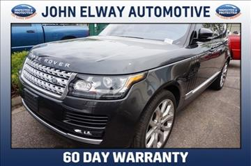 2017 Land Rover Range Rover for sale in Greeley, CO