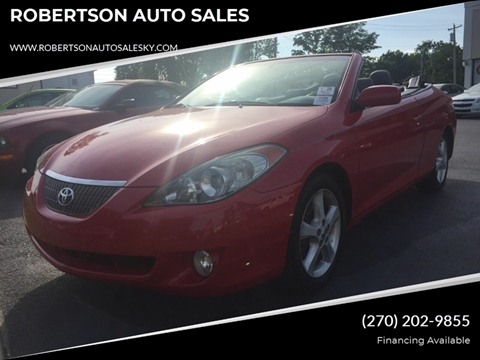 Toyota Of Bowling Green >> 2004 Toyota Camry Solara For Sale In Bowling Green Ky