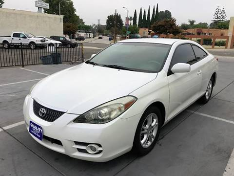 2007 Toyota Camry Solara for sale at Quality Car Sales in Whittier CA