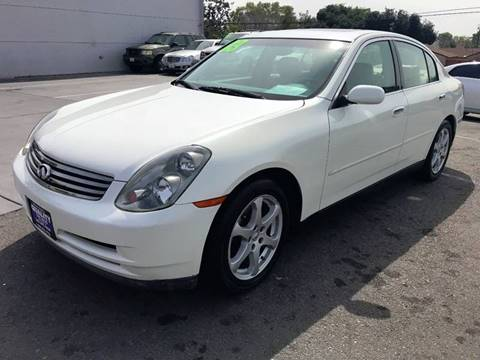 2003 Infiniti G35 for sale at Quality Car Sales in Whittier CA