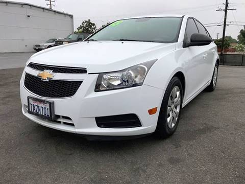 2013 Chevrolet Cruze for sale at Quality Car Sales in Whittier CA