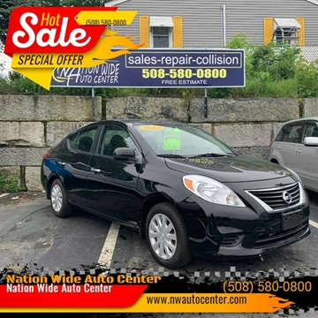 Cheap Cars For Sale In Ma >> 2012 Nissan Versa For Sale In Brockton Ma