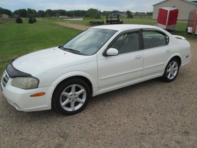 2002 Nissan Maxima for sale at SWENSON MOTORS in Gaylord MN