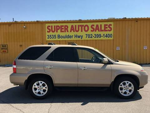 2001 Acura MDX for sale at Super Auto Sales in Las Vegas NV