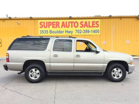 2002 Chevrolet Suburban for sale at Super Auto Sales in Las Vegas NV