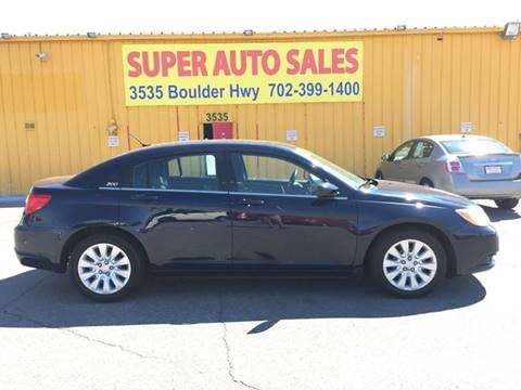 2013 Chrysler 200 for sale at Super Auto Sales in Las Vegas NV