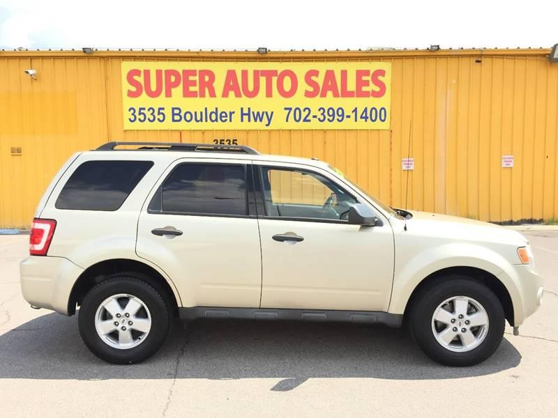 2010 Ford Escape for sale at Super Auto Sales in Las Vegas NV