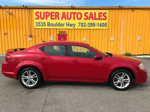 2011 Dodge Avenger for sale at Super Auto Sales in Las Vegas NV
