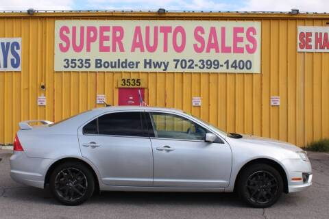 2010 Ford Fusion SEL for sale at Super Auto Sales in Las Vegas NV