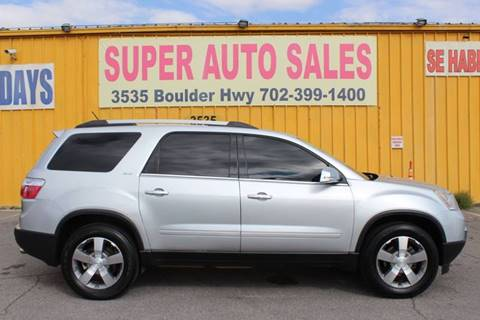 2012 GMC Acadia SLT-1 for sale at Super Auto Sales in Las Vegas NV