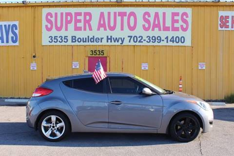 2013 Hyundai Veloster for sale at Super Auto Sales in Las Vegas NV