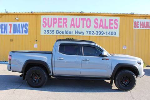 2017 Toyota Tacoma TRD Pro for sale at Super Auto Sales in Las Vegas NV
