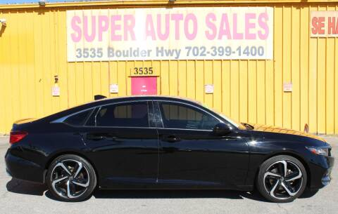2019 Honda Accord for sale at Super Auto Sales in Las Vegas NV