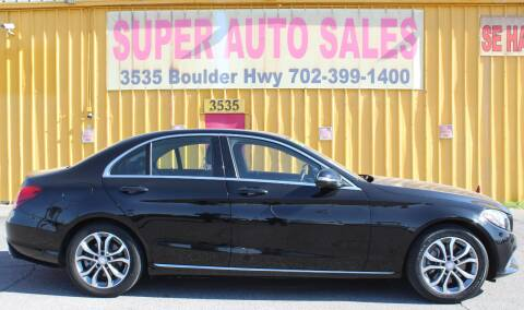 2016 Mercedes-Benz C-Class for sale at Super Auto Sales in Las Vegas NV