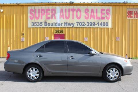 2003 Toyota Camry for sale at Super Auto Sales in Las Vegas NV