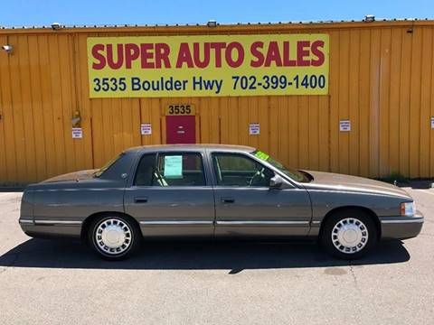 1999 Cadillac DeVille for sale at Super Auto Sales in Las Vegas NV