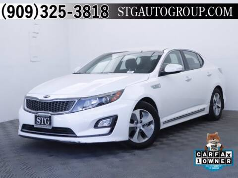 2016 Kia Optima Hybrid for sale at STG Auto Group in Montclair CA