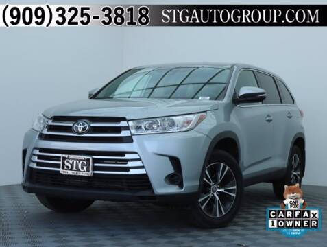 2019 Toyota Highlander for sale at STG Auto Group in Montclair CA